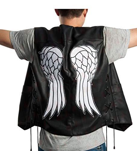 Ucosbros Mens Vest Daryl Costume Dixon Cosplay Jacket for Halloween (Black, M)]()