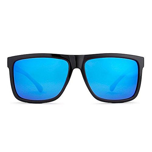 Piernas Europa Hombre América Sol Explosive Square para Sol Gafas Azul LBY Metal Sra Polarizadas Hombres para Casual Gafas Glasses Y Negro Espejo De Color de xHzn0wq1a