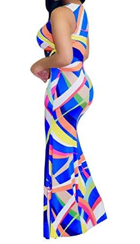 Deep V Womens Dress Premium Sleeveless As1 Bodycon Neck Coolred Maxi nBIq11