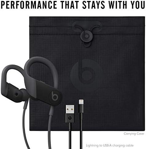 Powerbeats High-Performance Wireless Earphones - Apple H1 Headphone Chip, Class 1 Bluetooth, 15 Hours Of Listening Time, Sweat Resistant Earbuds - Black (Latest Model)