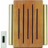 Carlon Lamson & Sessons RC3306F Timbre para puerta inalámbrico de madera y latón