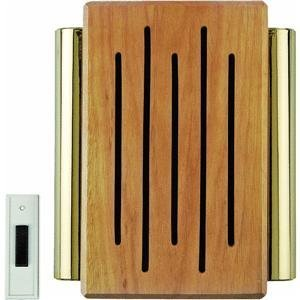 Carlon Lamson & Sessons RC3306F Wood And Brass Wireless Door Chime Brass Door Chimes
