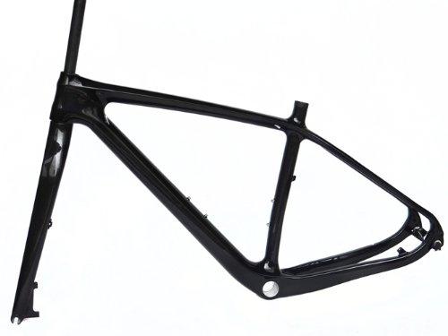 Full Carbon 3K Glossy 29er Mountain Bike MTB 29'' Wheel BSA Frame With Fork 17.5'' by x-goods