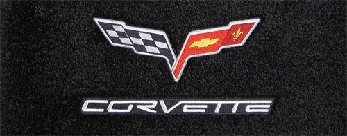 Corvette C6 Coupe /& Convertible Ebony Floor Mats 2005 2006 and Early 2007 High-End Motorsports HEM-C6-EBNY-2005-2pc
