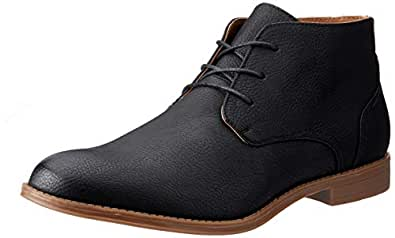 Uncut Men's Chester Desert Boot, Black, 7 AU
