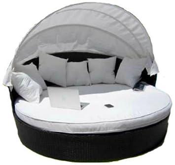 LuxuryGarden - Sofá redondo de ratán para jardín. Chaise ...