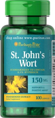 Wort normalisé de Pride St. John Puritan Extrait 150 mg-100 Capsules