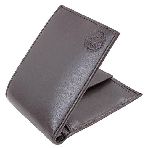 d39b9985b DIESEL Cartera de hombre, cuero real, HIRESH XS, Mohawk, Back-To-U  (11x8,5x1,5cm): Colour: Brown: Amazon.es: Zapatos y complementos