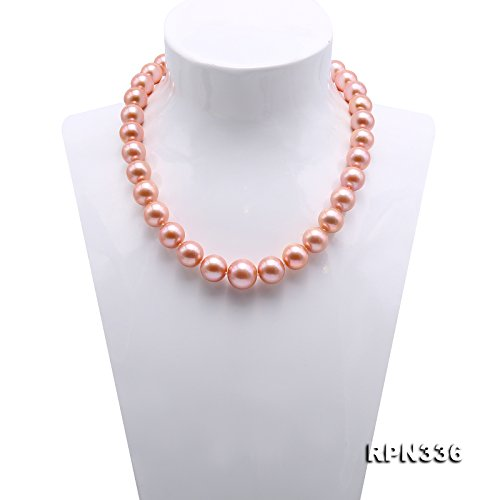 JYX Top-grade AAAAA 12-16mm Pink Freshwater Pearl Necklace 19'' by JYX Pearl (Image #1)