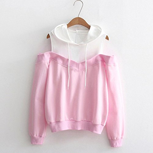 WomensClothing, KIKOY Off Shoulder Long Sleeve Hoodie Pullover Tops by Kikoy womens tops (Image #2)