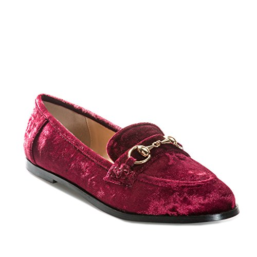 Loafers Glamorous Womens Velvet Wein in 8OSPqgxw