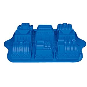 Better Value Birthday Holiday Silicone Train Cake Pan Cake Mould