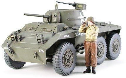 Tamiya 1/35 Military Miniature Series No.228 US Army American light armored vehicle M8 Greyhound Model Car - Armored M8 Greyhound Car