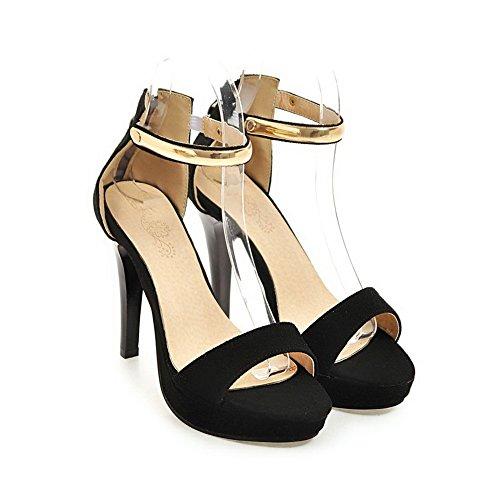 AdeeSu Femme SLC04325 Noir Noir 36 5 Cheville Bride 7TUqwSxr7