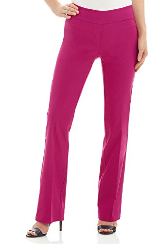Rekucci Women's Ease in to Comfort Boot Cut Pant (4,Fuchsia) ()