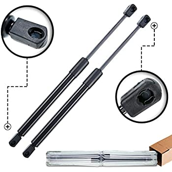 Two Front Hood Gas Charged Lift Supports for 2009-2014 Ford F-150 Pickup Excluding SVT Raptor WGS-587-2 Left and Right Side