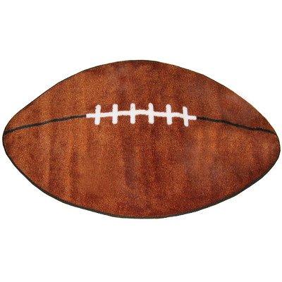 "Fun Shape High Pile Football Sports Kids Rug Rug Size: 2'4"" x 3'9"""