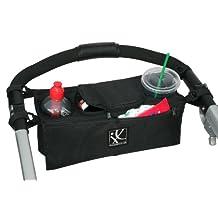 J. L. Childress Sip 'N Safe Stroller Console Tray, Black
