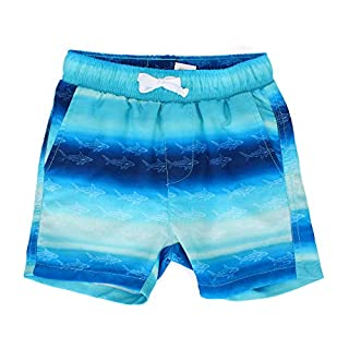 Boys' Gradient Quick Dry Beach Swim Trunk Sharks Board Shorts with Pockets, 4T