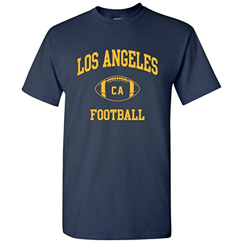 (Los Angeles Classic Football Arch Basic Cotton T-Shirt - X-Large â€