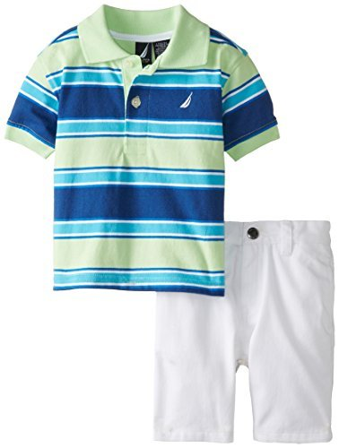 Nautica Boys 2 Piece Oxford Polo with Printed Short