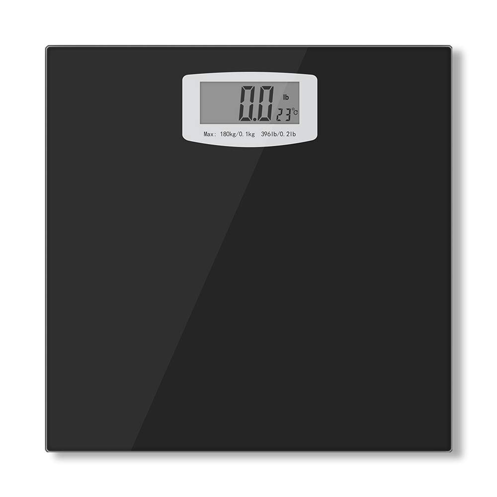 Bucanim Digital Bathroom Scale with Temperature Function Body Weight Scales Fitness Tracker with High Precision Weighing Sensors Capacity 396 pounds
