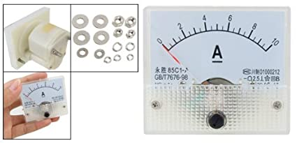 uxcell 85C17 Analog Current Panel Meter DC 5A Ammeter for Circuit Testing Ampere Tester Gauge 1 PCS a18031200ux0158