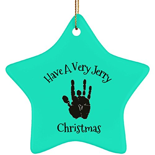 Epicura Have A Very Jerry Christmas - Garcia Handprint Tree Ornament - Ceramic -