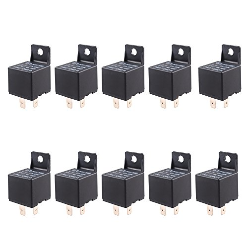 E Support Car Relay 12v 40a Spst 4pin Pack of 10