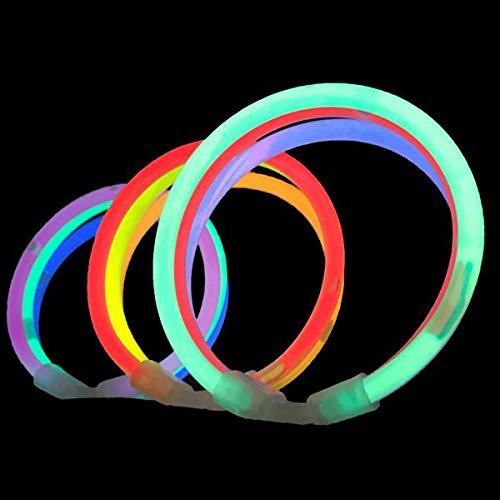 Glow - Juego de pulseras, gafas y adornos para el pelo fluorescentes