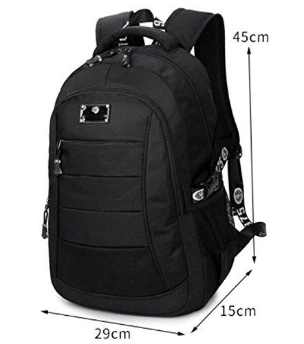 Backpack Bag Bag Computer Blue black Student Leisure vqdnwI7E1v