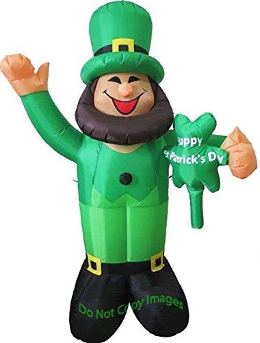 St Patricks Day Inflatable 4' Waving Leprechaun