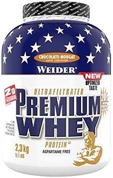 Weider Premium Whey, CFM, 2g de L-Glutamina por toma. Sabor Chocolate con nueces - 2300 gr
