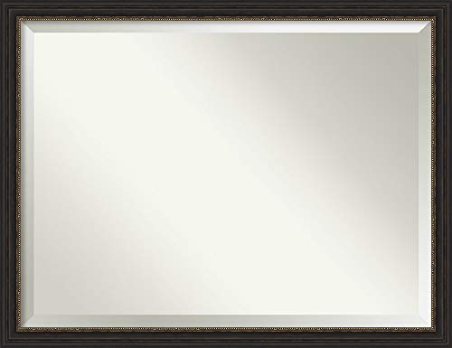 Framed Vanity Mirror | Bathroom Mirrors for Wall | Accent Bronze Narrow -