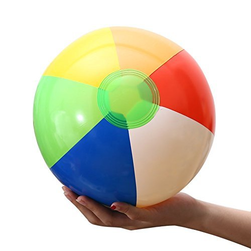Beach Balls (12 Pack) - Inflatable Rainbow Beach Balls Beach Pool Party Toys Party Favors, Summer Swimming Pool Beach Floating Toys
