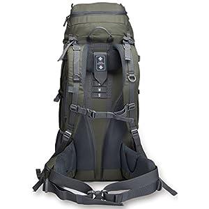 Backpacking Backpack Hiking Backpack Internal Frame Backpack backpacks for travel 65L+20L with free raincover khaki green