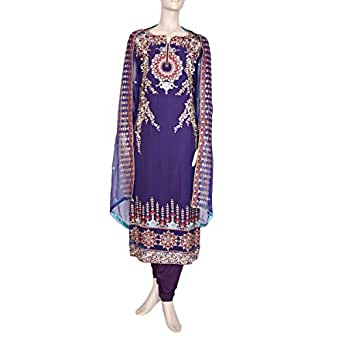 Shabnam Purple Casual Kameez & Salwar Set For Women