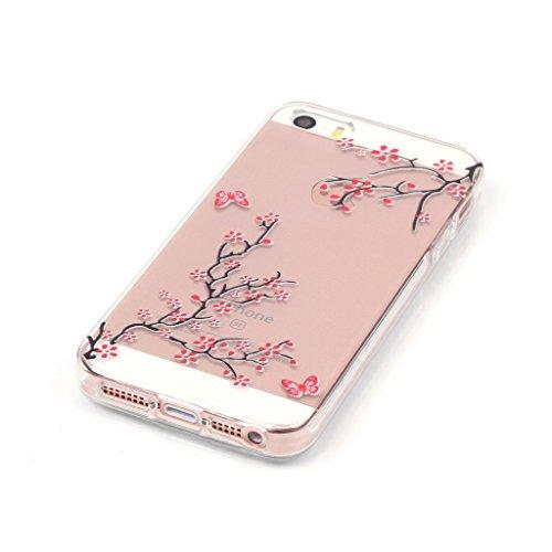 LH Geäst TPU Hülle Weich Tasche Schutzhülle Silikon Handyhülle transparent Schale Case für Apple iPhone 5 5S SE
