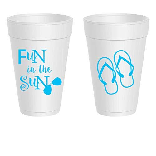 Styrofoam Party Cups - Fun in the Sun