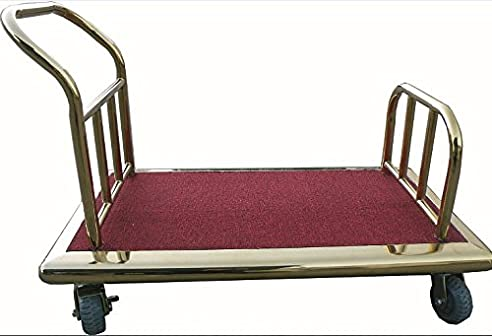 Gepäckwagen Transportwagen Hotelwagen Kofferwagen Packwagen ohne Auffbau gold rot bordeaux
