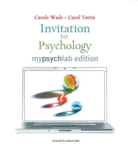 Invitation to Psychology: Mypsychlab Edition