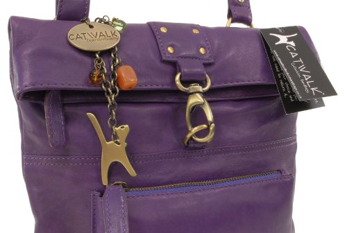 Viola Borsa Pelle Catwalk In A Tracolla Collection