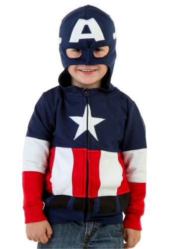 Toddler Captain America Costumes Hoodie (Little Boys' Toddler Captain America Costume Hoodie 3t)