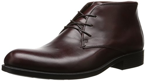 ECCO Men's Harold Plain Toe Chukka Boot, Rust, 42 EU/8-8.5 M (Ecco Plain Boots)