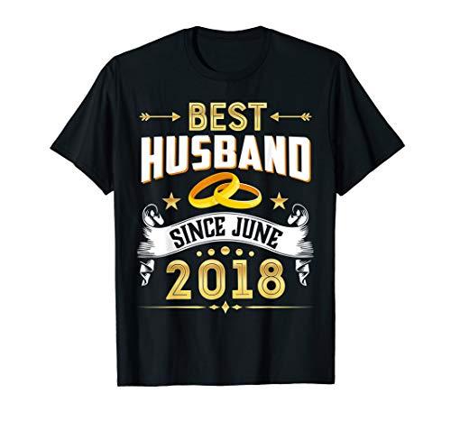 1st Wedding Anniversary Gifts Best Husband Since 2018 T Shir (Good 1 Year Wedding Anniversary Gifts For Him)