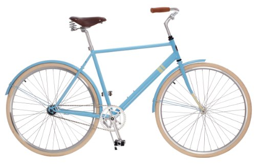 the Park Row City Cruiser by Sole Bicycles, 50cm/Medium, Ocean Blue/Natural