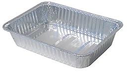 Durable Packaging Disposable Aluminum Rectangular Roasting Pan, Medium, 14-1/2\
