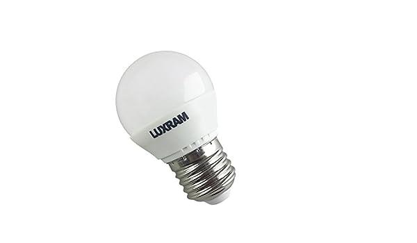 BOMBILLA 6,5W 4000K LED ESFERICA E27 650LM (BLANCO NATURAL): Amazon.es: Iluminación