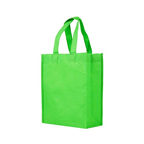 Reusable Gift / Party / Lunch Tote Bags - 25 Pack - Grass Gr