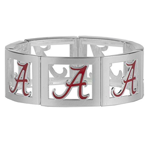 Big Al Alabama Costume (Alabama Crimson Tide Square Stretch Bracelet)